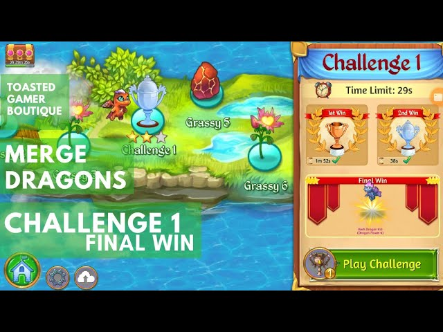 Merge Dragons Challenge 1 Final Win