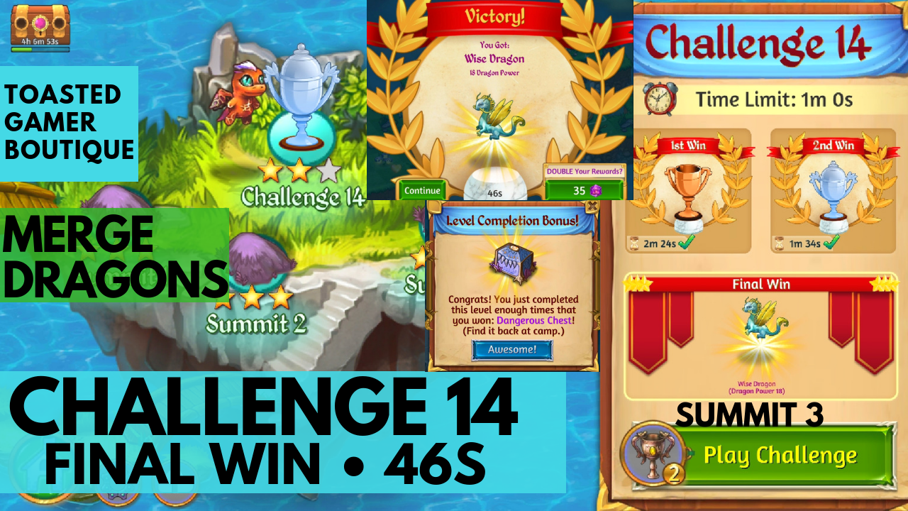 Merge Dragons Challenge 14 Final Win | 46s