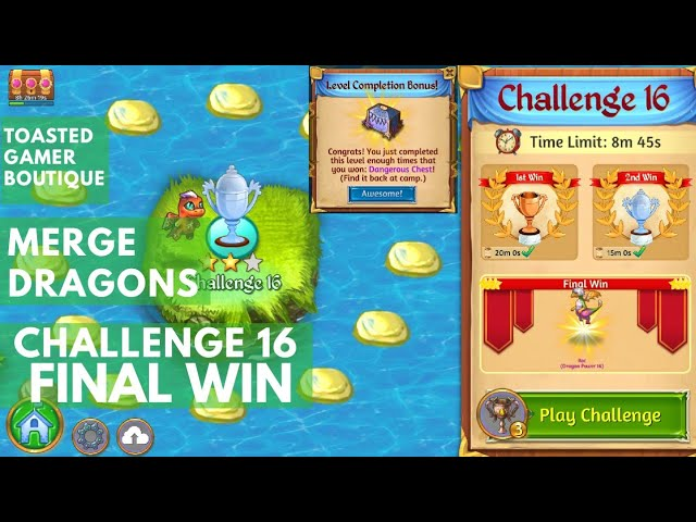 Merge Dragons Challenge 16 Win