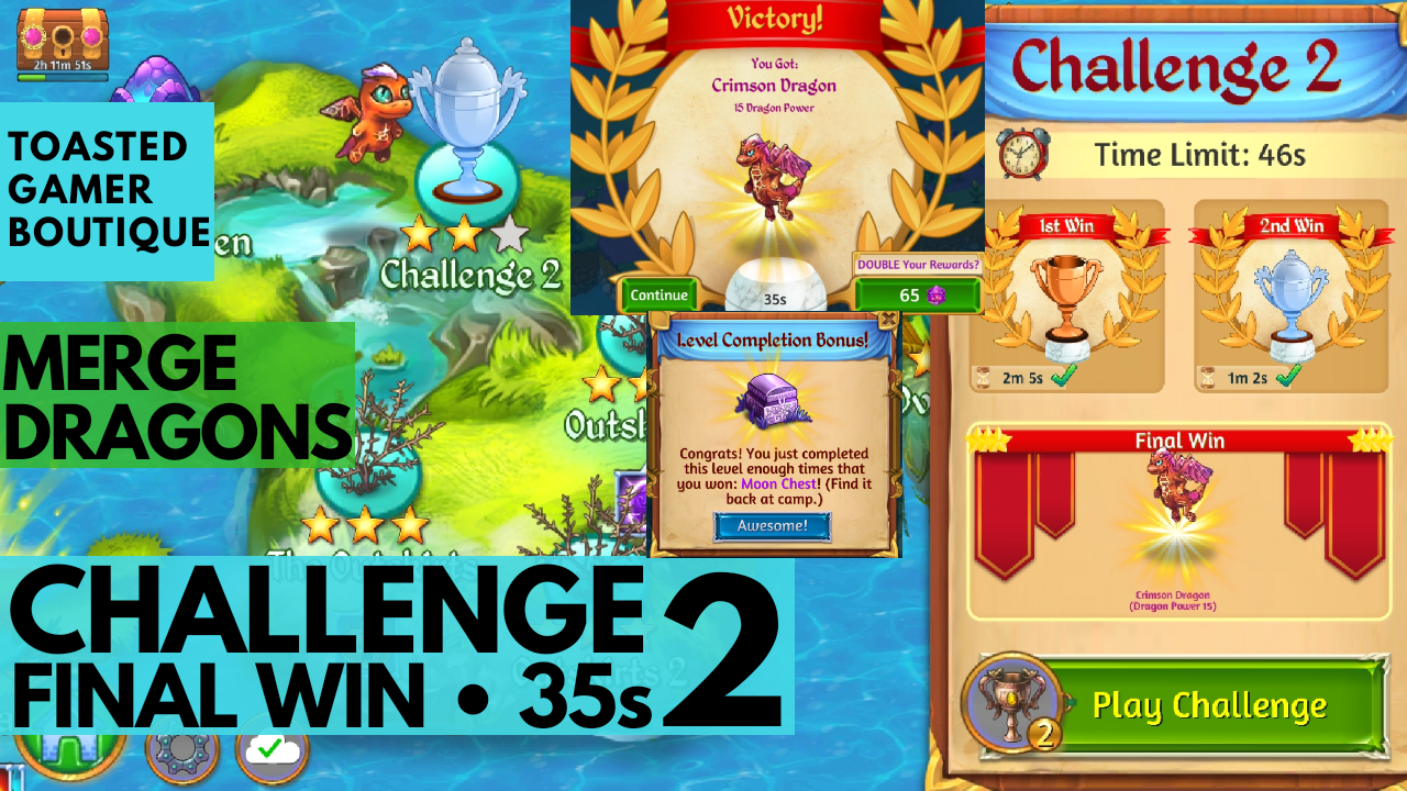 Merge Dragons Challenge 2 Final Win | 35s