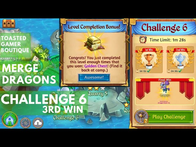 Merge Dragons Challenge 6 Final Win