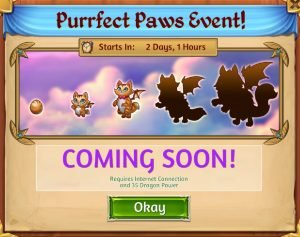 Merge Dragons Purrfect Paws Event Guide