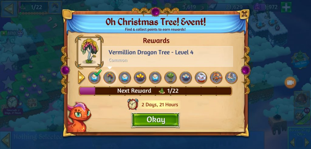 Merge Dragons Christmas Event 2020 Merge Dragons Oh Christmas Tree Event Rewards | Points Required