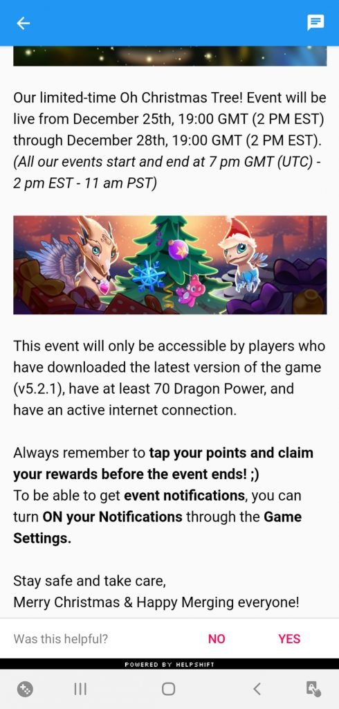 Merge Dragons Christmas Event 2021 Merge Dragons Christmas Event Guide 2020 Happy Holidays